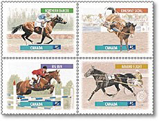 Canada Post's Equine stamp issue