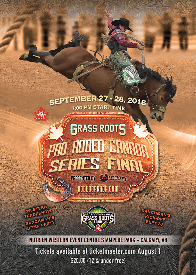 2018 Grass Roots Rodeo Final - Sept 27-28 - Stampede Park, Calgary, Alberta.