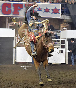 Layton Green - WNFR Saddle Bronc qualifier - Copeman photo