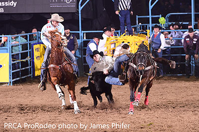 Curtis Cassidy - WNFR Rd 4 Win - J Phifer photo