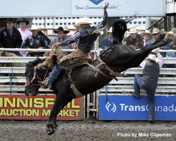Kyle Thomson - 2012 Innisfail Pro Rodeo AA & Bronc Riding Champion